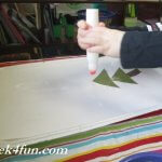 Triangle Tress winter bulletin board glue