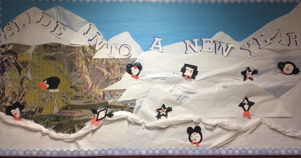 Preschool Shape Penguin Bulletin Board