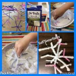 Salt Snowflakes Craft
