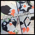 Shape Penguins preschool craft
