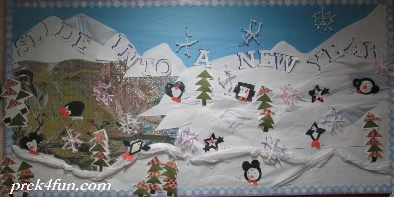 slide into a new year winter bulletin board 001 (800x400)