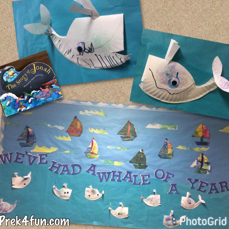 Weu0027ve Had a Whale of a Year Ocean Paper Plate Whales Bulletin Board & Weu0027ve Had a Whale of a Year paper plate Whale Ocean Bulletin Board