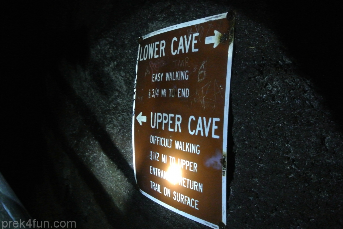 Ape Cave entrance sign