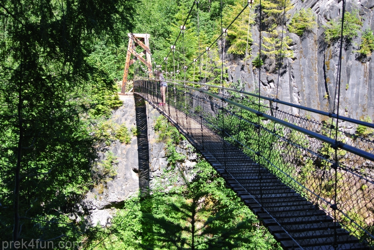 Lava Canyon Loop suspension bridge