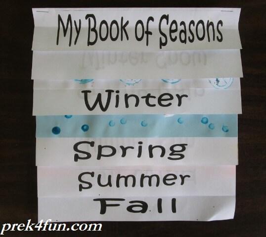 Letter X Crafts For Preschool Book of Seasons Flip B...